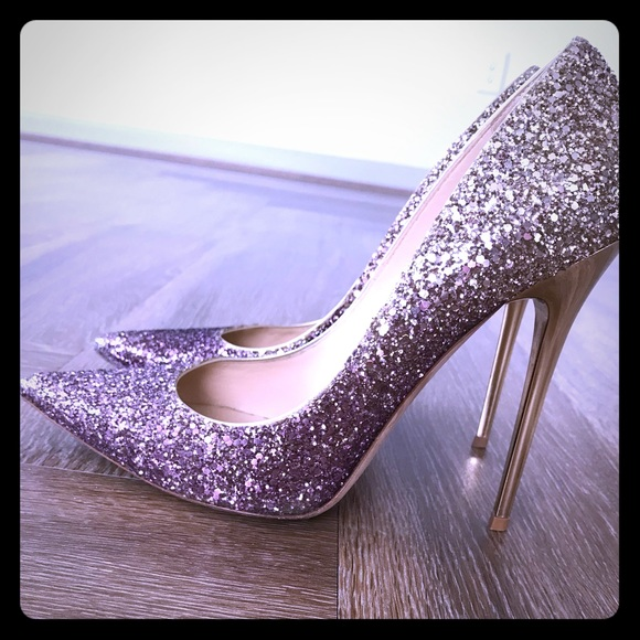 great deals lower price with no sale tax Jimmy Choo Ombré Glitter Pumps
